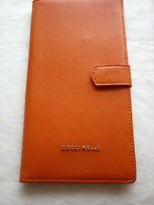 COCCINELLE Soft Leather Orange Document Holder Wallet purse RRP£140 Authentic