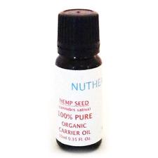 Hemp Seed Carrier Oil, 2 Bottles, Organic, 100% Pure,10ml each