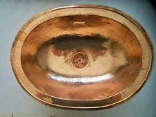 Vasque cuivre rouge Marocaine ovale évier lave main lavabo salle de bain 38x30cm