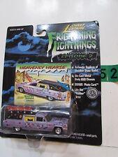 JOHNNY LIGHTNING FRIGHTNING LIGHTNINGS HEAVENLY HEARSE W/ RED SURFBOARDS