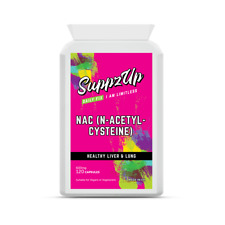 Suppzup NAC N-Acetyl-Cysteine 120 Capsules Healthy Liver Lung Brain Function