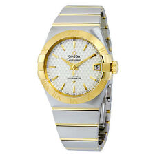 """Omega Constellation Silver """"Griffes"""" Dial Steel and 18K Yellow GOld AUtomatic"""