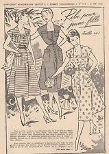 Patron à décalquer Femmes d'Aujourd'hui 1951 N°317 Robe jeune fille T 40