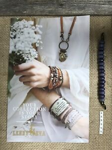 New Lenny & Eva Jewelry Beaded Claw Link Bracelet Sentiment Faceted Purple N