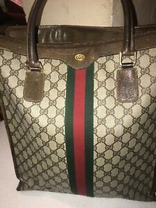 RARE Vintage GUCCI GG SUPREME Large Tote Bag Purse