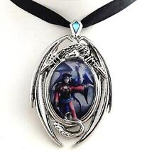 Anne Stokes Enchanted Cameos necklace Look To The East dragon art work Licensed