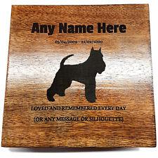 Miniature Schnauzer Pet Urn Ashes Pet Box Dog Urn Cat Urn Personalised Cremation