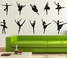 10 PCs Large Ballet Dancing Dancer Room Removable Wall Sticker Vinyl Decal Art
