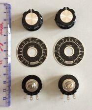 2 Pcs Original Tocos/Cosmos Potentiometer RV24YN20SB201 200ohm + 2x Knob +2xdial