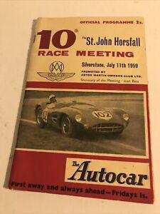 The St.John Horsfall Race Meeting Silverstone 1959 Official Race Programme