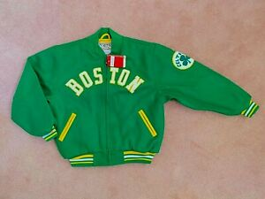 NWT Mitchell & Ness BOSTON CELTICS NBA Hardwood Classics Varsity Wool Jacket M L