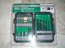 Hitachi 115107 Drill and Drive Bit Set, 35 Piece NEW!! Free Shipping!