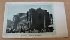 ANTIQUE UNUSED POSTCARD c.1900 ST PAUL'S CATHEDRAL MELBOURNE REAL PHOTO
