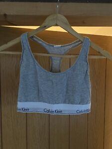 Calvin Klein Grey Crop Top Size L