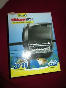 NIOB NEW Tetra Whisper EX 30 Silent Multi-Stage Power Filter for 20-30 Aquariums