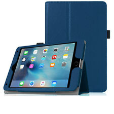 Foldable Folio Case for iPad Mini 4, Pu Leather & Multi Viewing Angle - Blue