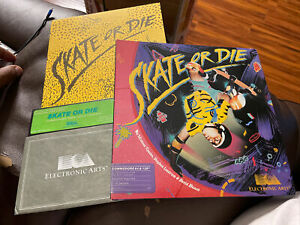 SKATE OR  DIE, Commodore 64 C64/128, Complete in Box, Fully Tested & Works!