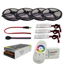 20M 5050 RGBWW Flexible LED Strip Set+2.4G Touch RF Remote Controller+12V Power