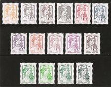 2013 Série COMPLETE  n° 4763 à 4777 Marianne de CIAPPA  Neufs** LUXE MNH