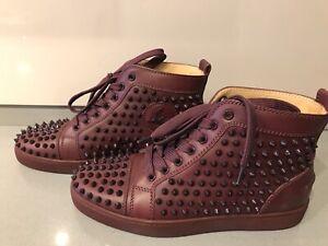 Women's Christian Louboutin burgundy sneakers size 39