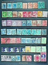 NEW SOUTH WALES - ESTATE STAMP CLCN USED 60 STPS 1859-1905 SEE INVENT LIST F-VF