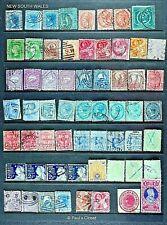 Neu Süd Wales - Stempel Clcn Gebraucht 60 Stps 1859-1905 Siehe Invent List F-Vf