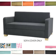 Home Sofa Bed Cover Fits SOLSTA Replacement Slipcover Customize Solid Color PGS