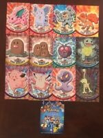 Pokemon 1998 Nintendo Topps Official Trading Cards Lot 2 Holos Squirtle Vintage