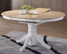 Extending Dining Table Round Kitchen Room Extendable Solid Wood Oak Dinner Party
