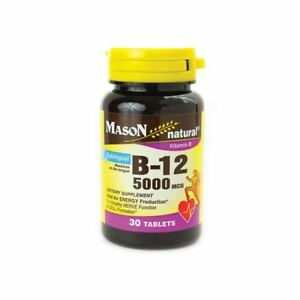 Mason Natural B-12 5000 Mcg Sublingual Tablets 30 Per Bottle