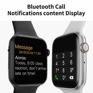 W34 Smart Watch Bluetooth  EKG Heart Rate Blood Pressure  Fitness Tracker/Black