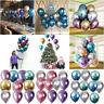 Metallic Balloons Latex Shiny Balloons Dating Birth Wedding Party Home Xmas New