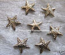 50 Hotfix Metal Formas estriado Estrella Oro 8 mm para planchar