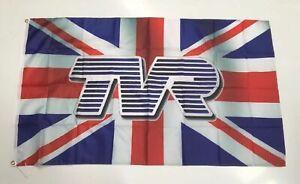 TVR Banner Flag - Car Motor Sports Engine England UK Custom Workshop Mechanic