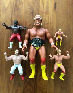 WWF Hulk Hogan Junk Yard Dog Big John Studd 1984 1985 Action Figure Lot LJN