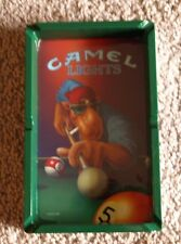 "Camel Lights 4"" x 7"" Ashtray (Green and White)  featuring Camel Joe Playing Pool"