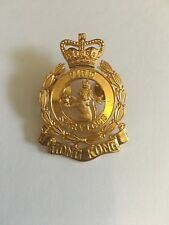 """Collectible Hong Kong Fire Service Large Chrome badge gold-color sz:1.5W""""x 2.0H"""""""