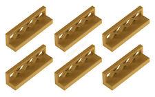 6x LEGO® 3633 1x4x1 Zaun Absperrung Gitter perlgold pearl gold NEU