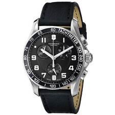 Swiss Army 241493 Gent's Black Dial Black Strap Chrono Watch