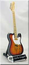 MERLE HAGGARD  Miniature Guitar Telecaster Tuff dog w/ Guitar Pick