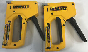 LOT OF 2 DeWALT DWHTTR130LH Heavy Duty Compact Stapler (L)