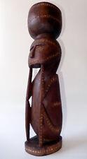 Massim Ancestor Figure Betel Nut Mortar Early 20thC New Guinea Trobriand Islands