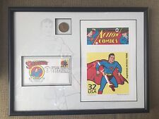 Rare SUPERMAN Lithograph, Coin & Stamp Set; 75/1250; Mint Condition w/ COA