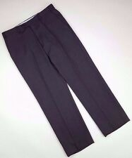 ARMANI Collezioni PANTS Mens 35 30 BROWN Flat FRONT Sz SIZE Wool BLEND Trouser**