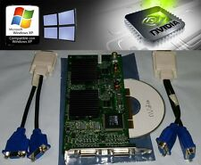 Nvidia Quadro NVS 400 64MB Quad View Analog VGA Windows XP PCI Video Card + Cbl
