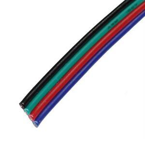5-50m RGB LED Verlängerungskabel Flachleitung Rot Grün Blau Schwarz
