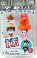 New listing Faces Pencil Stacker Topper Puzzle Erasers *New* Scribble Stuff Red Hair