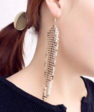 COTTA di maglia mesh Dangle Earrings Party Donna Oro Regalo * UK Venditore * SD6