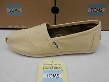 TOMS WOMENS CLASSIC NATURAL CANVAS SIZE 10
