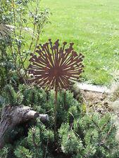 Edelrost Gartenstecker Blume Allium am Stab Ø 40  Dekoartikel Rostblume Saremo